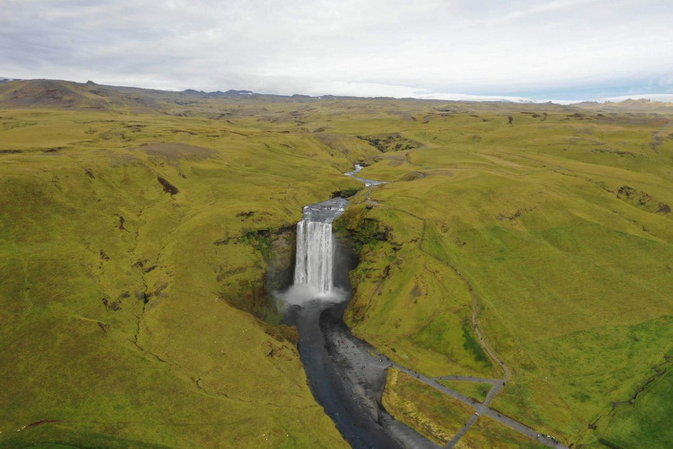 Mavic 2 Pro-Skogafoss Waterfall in Iceland