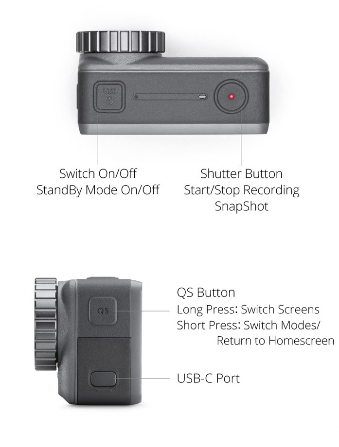 DJI Osmo Action-Buttons